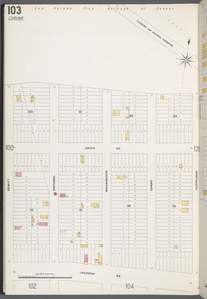 Queens V. 3, Plate No. 103 [Map bounded by Flushing and Astoria Tpk., Cleveland, Jackson Ave., De Witt]
