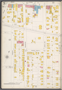 Queens V. 4, Plate No. 71 [Map bounded by Fulton St., New York Ave., St. Monica's Cemetery, Prospect, Twombly Pl.]