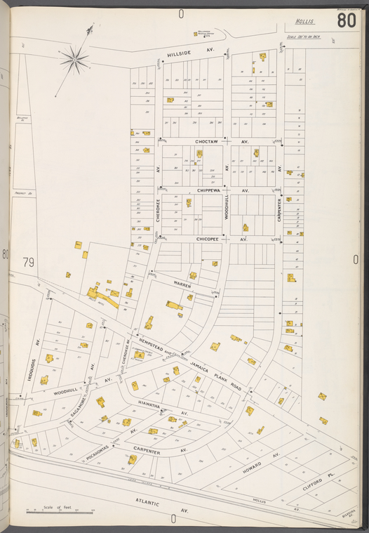 Queens V. 4, Plate No. 80 [Map bounded by Hillside Ave., Carpenter Ave., Atlantic Ave., Iroquois Ave.]