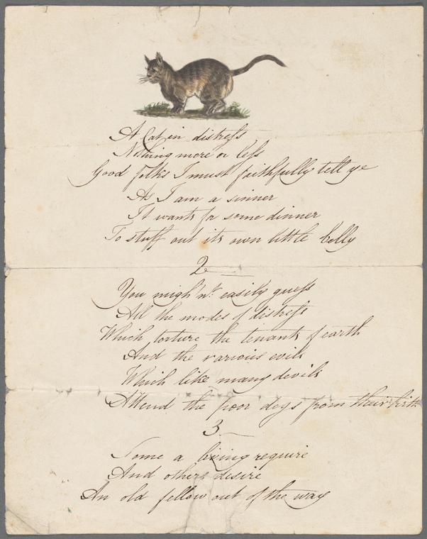 """Poem (transcript), """"A Cat in Distress"""""""