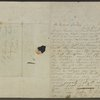 Autograph letter signed to Percy Bysshe Shelley, 6 Jul 1822