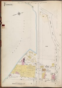 Queens V. 3, Plate No. 3 [Map bounded by Laurell Hill Blvd., Halle Ave., Hobson Ave., Newtown Creek]