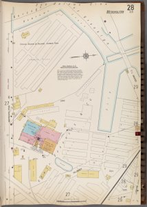 Queens V. 3, Plate No. 28 [Map bounded by Newtown Creek, Grand, Metropolitan Ave.]