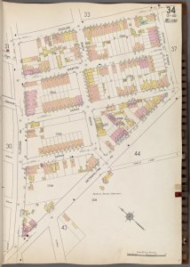 Queens V. 3, Plate No. 34 [Map bounded by Zeidler, Arnold, Metropolitan Ave., Flushing Ave.]
