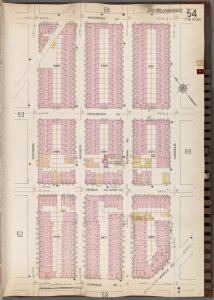 Queens V. 3, Plate No. 54 [Map bounded by Woodward Ave., Cornelia, Myrtle Ave., Cypress Ave., Woodbine]