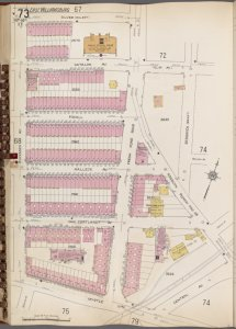 Queens V. 3, Plate No. 73 [Map bounded by Silver, Sedgwick, Central Ave., Myrtle Ave., Buckman Ave.]