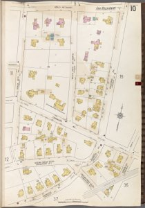 Queens V. 8, Plate No. 10 [Map bounded by Healy Ave., Dickens Ave., Gipson St., Ocean Crest Blvd., Dickens Ave., Beach 25th St.]