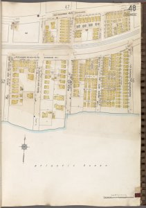 Queens V. 8, Plate No. 48 [Map bounded by Far Rockaway Blvd., Beach 39th St., Atlantic Ocean, Beach 43rd St.]