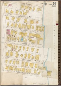 Queens V. 8, Plate No. 60 [Map bounded by Beach 62nd St., Atlantic Ocean, Beach 67th St., Larkin]