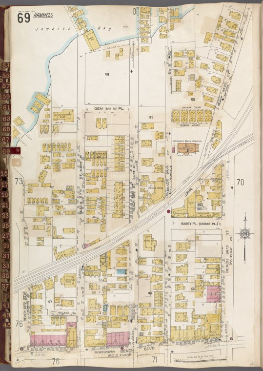 Queens V. 8, Plate No. 69 [Map bounded by Jamaica Bay, Beach 84th St., Rockaway Beach Blvd., Beach 88th St.]