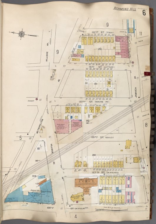 Queens V. 6, Plate No. 6 [Map bounded by Metropolitan Ave., Jamaica Ave., 126th St.]