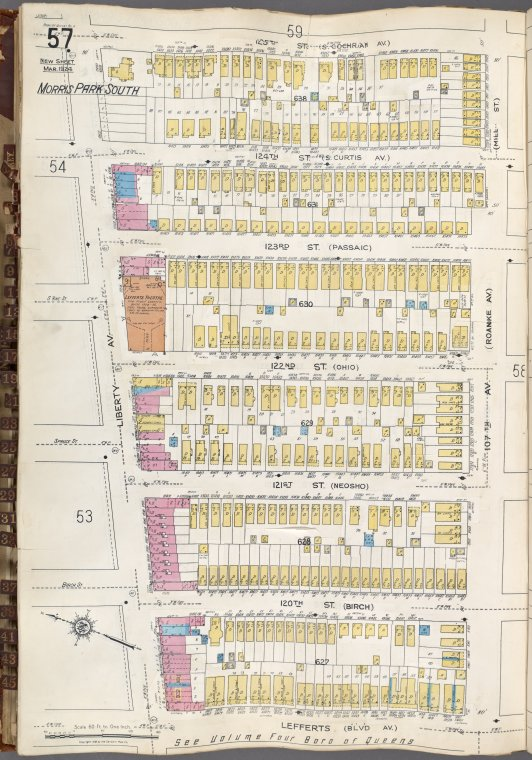 Queens V. 6, Plate No. 57 [Map bounded by 125th St., 107th Ave., Lefferts Blvd., Liberty Ave.]