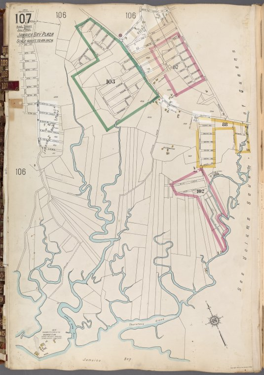 Queens V. 6, Plate No. 107 [Map bounded by 156th St., 147th Ave., Jamaica Bay]