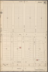 Queens V. 10, Plate No. 40 [Map bounded by Fillmore Ave., 20th St., Roosevelt Ave., 16th St.]