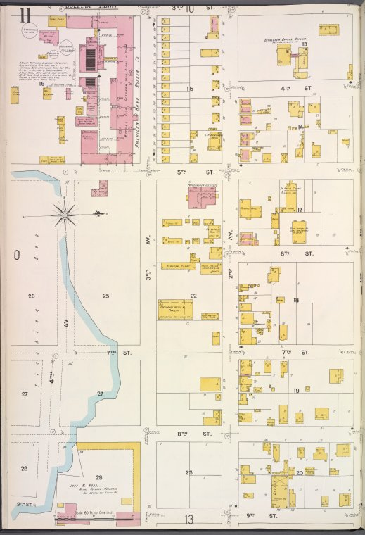 Queens V. 5, Plate No. 11 [Map bounded by 3rd St., 1st Ave., 9th St., 4th Ave.]