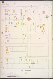 Queens V. 5, Plate No. 17 [Map bounded by N. 13th St., Ave. C, East Blvd., High St.]