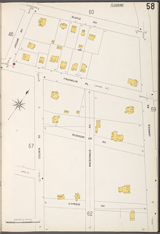 Queens V. 5, Plate No. 58 [Map bounded by Maple Ave., Jamaica Ave., Cypress Ave., Jaggar Ave.]