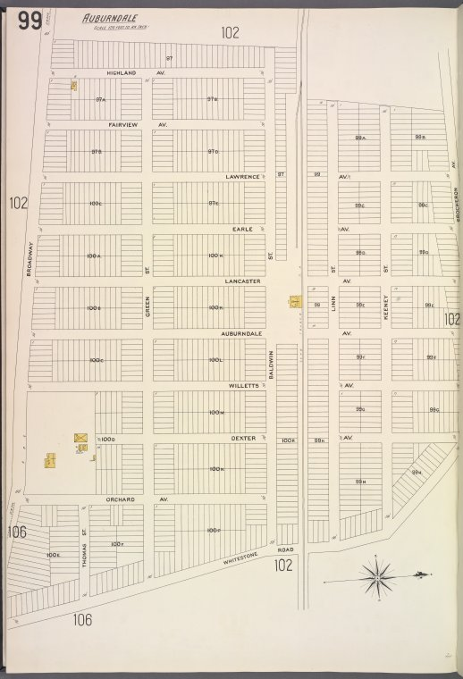 Queens V. 5, Plate No. 99 [Map bounded by Highland Ave., Crocheron Ave., Whitestone Rd., Broadway]