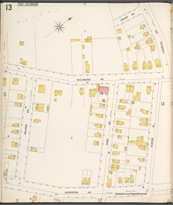 Richmond, Plate No. 13 [Map bounded by Sharp Ave., Albion Pl., Heberton Ave., Palmer Ave.]