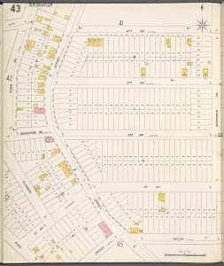 Richmond, Plate No. 43 [Map bounded by 4th Ave., Bismarck Ave., Brook, York Ave.]