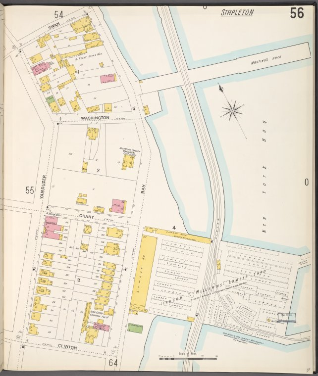 Richmond, Plate No. 56 [Map bounded by Swan, New York Bay, Clinton, Vanduzer]