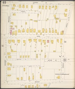 Richmond, Plate No. 93 [Map bounded by Johnson Ave., Arents Ave., Eureaka Pl., Bentley, Broadway]