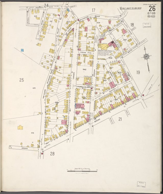 Staten Island, V. 1, Plate No. 26 [Map bounded by Trossach Rd., Court, Boyd, Cedar, Broad, Van Duzer]
