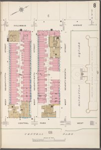 Manhattan V. 7, Plate No. 8 [Map bounded by Columbus Ave., Manhattan Sq., Central Park West, W. 75th St.]