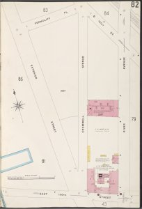 Bronx, V. 9, Plate No. 82 [Map bounded by Ferncliff Pl., E. 151st St., River Ave., E. 150th St., Exterior St.]