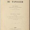 Manuel géométrique du tapissier... [Title page]
