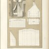 [Untitled plate featuring group of images illustrating drapery for a bed (lit à Anneau) and its plans]
