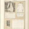 [Untitled plate featuring group of images illustratating drapery for a bed (lit à bannière) and its plans.]