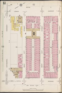 Manhattan V. 7, Plate No. 61 [Map bounded by Lenox Ave., W. 113th St., 5th Ave., Cathedral Ave.]