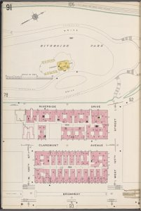 Manhattan V. 7, Plate No. 91 [Map bounded by Riverside Park, W. 127th St., Broadway, W. 125th St.]