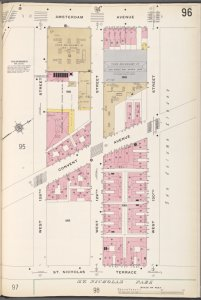 Manhattan V. 7, Plate No. 96 [Map bounded by Amsterdam Ave., W. 130th St., St. Nicholas Terrace, W. 128th St.]