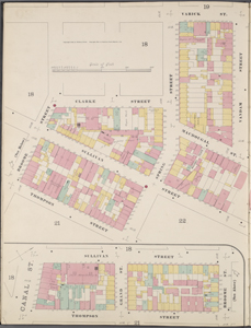 Manhattan, V. 1, Double Page Plate No. 20 [Map bounded by Varick St., Houston St., Sullivan St., Thompson St., Broomr St., Clarke St.]