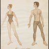 Ricercare - color sketch of female and male dancers