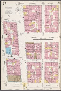 Manhattan, V. 1, Plate No. 77 [Map bounded by Rivington St., Forsyth St., Grand St., Elizabeth St.]