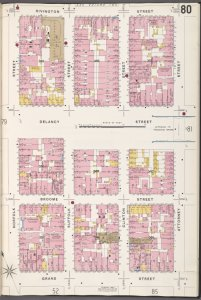 Manhattan, V. 1, Plate No. 80 [Map bounded by Rivington St., Attorney St., Grand St., Norfolk St.]