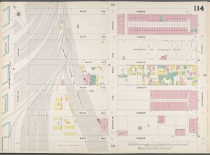 Manhattan, V. 6, Double Page Plate No. 114 [Map bounded by W. 67th St., Amsterdam Ave., W. 62nd St., 12th Ave.]