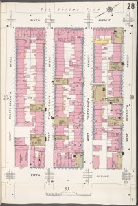 Manhattan, V. 4, Plate No. 28 [Map bounded by 6th Ave., W. 40th St., 5th Ave., W. 37th St.]