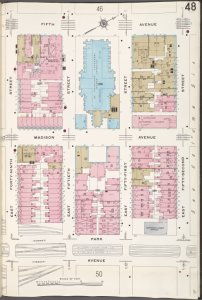 Manhattan, V. 4, Plate No. 48 [Map bounded by 5th Ave., E. 52nd St., Park Ave., E. 49th St.]