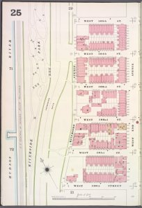Manhattan, V. 7, Plate No. 25 [Map bounded by W. 105th St., W. End Ave., W. 100th St., Hudson River]