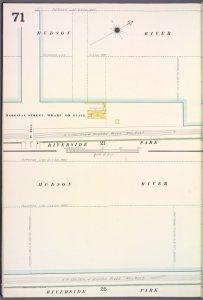 Manhattan, V. 7, Plate No. 71 [Map bounded by Hudson River, Riverside Park]