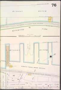 Manhattan, V. 7, Plate No. 76 [Map bounded by Hudson River, 12th Ave., W. 129th St.]