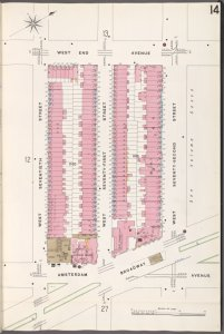 Manhattan, V. 6, Plate No. 14 [Map bounded by W. End Ave., W. 72nd St., Broadway, W. 70th St.]