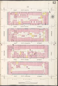 Manhattan, V. 6, Plate No. 52 [Map bounded by E. 56th St., 1st Ave., E. 52nd St., 2nd Ave.]
