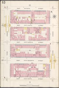 Manhattan, V. 6, Plate No. 53 [Map bounded by E. 60th St., 2nd Ave., E. 56th St., 3rd Ave.]