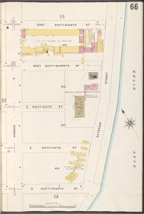 Manhattan, V. 6, Plate No. 66 [Map bounded by E. 68th St., East River, E. 64th St., Avenue A]