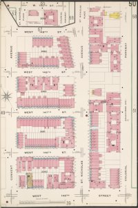 Manhattan, V. 11, Plate No. 50 [Map bounded by W. 149th St., Colonial Parkway, W. 145th St., Convent Ave.]